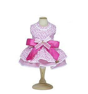 Vestido para Cachorro P&F Floral Rosa