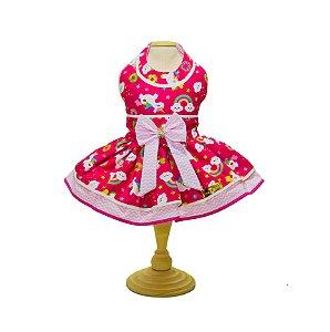 Vestido para Cachorro Unicórnio Pink