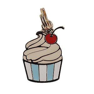 Pingente de Identificação para Cachorro Woof Classic Cupcake Azul