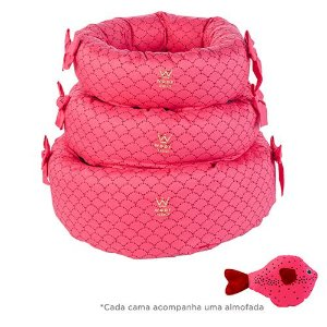 Cama Fofinha Sereia/Pink Woof Classic Deep
