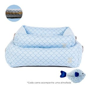 Cama para Cachorro Woof Classic Deep Sereia Azul