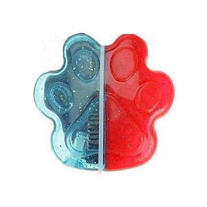 Brinquedo Kong Duets Paw Médio Azul com Vermelho para Cães