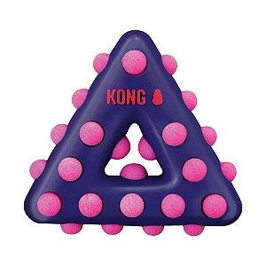 Brinquedo Kong Dotz Triangle Roxo para Cães