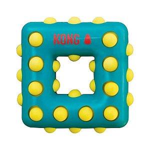 Brinquedo Kong Dotz Square Verde para Cães