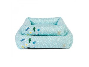 Cama para Cachorro Woof Classic Tiffany com Patches