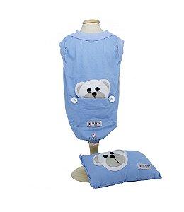 Pijama Para Cachorro DuDog Vest Azul