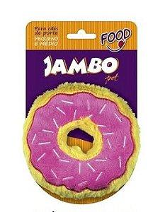 Brinquedo Jambo Mordedor Pelúcia Food Donut Morango