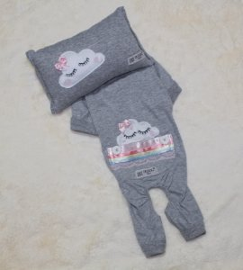 Pijama + travesseiro DuDog Vest Nuvem Cinza Lacinho