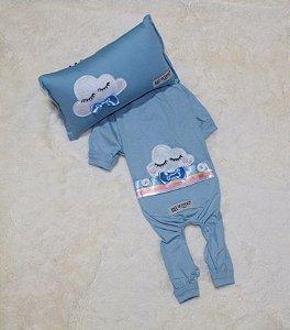 Pijama + travesseiro DuDog Vest Nuvem Azul Gravata