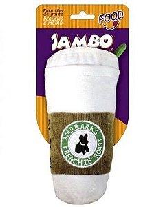 Brinquedo Jambo Mordedor Pelúcia Food Starbarks Branco