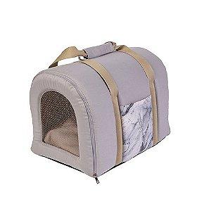 Bolsa de Transporte Pet Woof Classic Empire Cinza