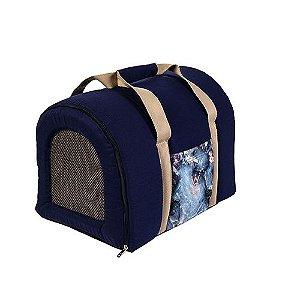 Bolsa de Transporte Pet Woof Classic Empire Azul Marinho