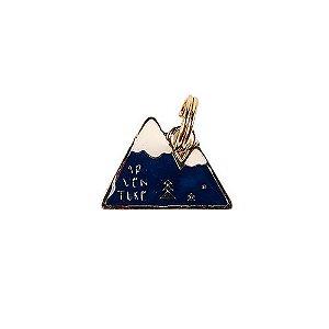 Pingente de Identificação para Cachorro Woof Classic Montanha Azul