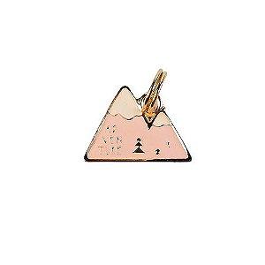 Pingente de Identificação para Cachorro Woof Classic Montanha Rosa