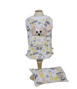 Camisola para Cachorro e Gato DuDog Vest Ursinho