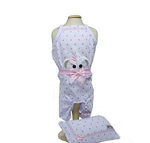 Pijama para Cachorro DuDog Vest Poá Rosa