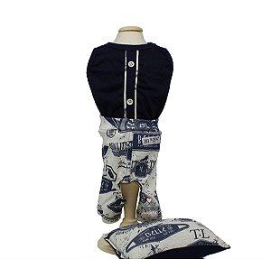 Pijama para Cachorro DuDog Vest Motors