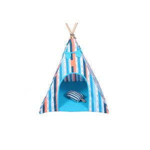 Cabana para Cachorro Apache Woof Classic Ice Land Azul
