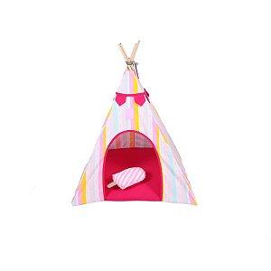 Cabana para Cachorro Apache Woof Classic Ice Land Rosa