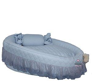 Cama Berço para Cachorro e Gato Pet Cherie Azul Bebê