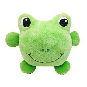 Brinquedo Akio Pelúcia com Squeaker Sapo Verde