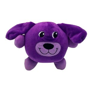 Brinquedo Akio Pelúcia com Squeaker Cão Roxo