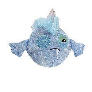 Brinquedo AFP Monster Ball Pelúcia Azul para Cachorro