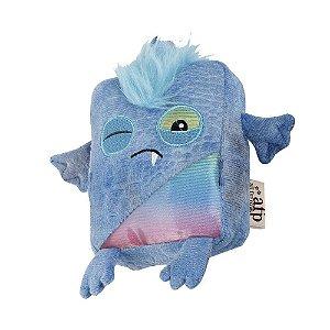 Brinquedo AFP Monster Square Pelúcia Azul para Cachorro