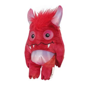 Brinquedo AFP Monster Square Pelúcia Vermelho para Cachorro