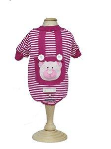 T-Shirt para Cachorro e Gato Maristela Moda Pet Ursinho Pink