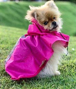Capa de Chuva para Cachorro Malloo Rosa