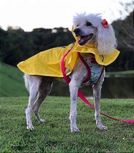 Capa de Chuva para Cachorro Malloo Amarela