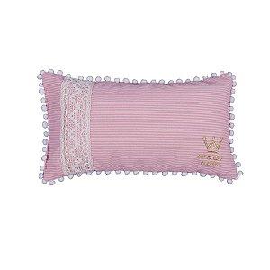 Travesseiro em Linho para Cachorro Woof Classic Enchanté Rosa