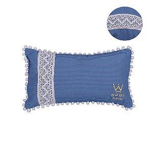 Travesseiro em Linho para Cachorro Woof Classic Enchanté Azul Marnho