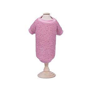 Blusa com Paetê para Cachorro Woof Classic Rosa