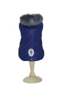 Capa Dupla Face para Cachorro Maristela Moda Pet Azul