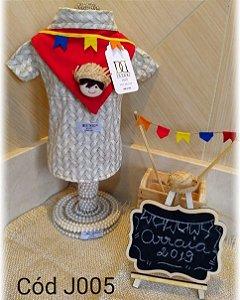 Camisa Festa Junina para Cachorro DuDog