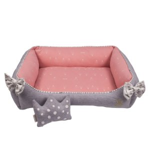 Cama Retangular para Cachorro Woof Classic Magic Land Rosa
