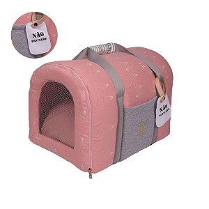 Bolsa de Transporte Pet Woof Classic Magic Land Rosa