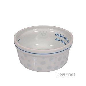 Comedouro para Cachorro em Porcelana Woof Classic Magic Land Azul