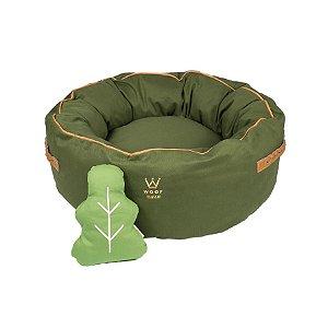 Cama para Cachorro Woof Classic Fofinha Forest Verde