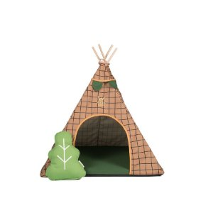 Cabana para Cachorro Woof Classic Apache Forest Bege