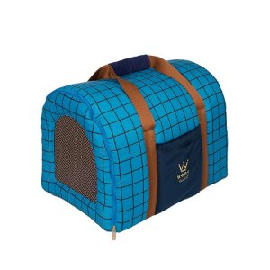Bolsa de Transporte Pet Woof Classic Forest Azul