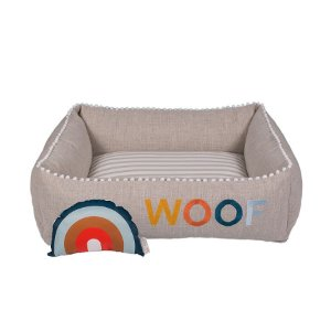 Cama Quadrada para Cachorro Woof Classic Sweet Dreams Azul