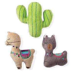 Brinquedo para Cachorro Mini Pelúcias Lhama & Cacto