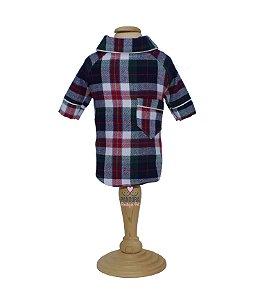 Pijama Camisa para Cachorro e Gato Xadrez