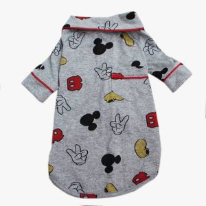 Pijama Camisa para Cachorro e Gato Mickey Cinza