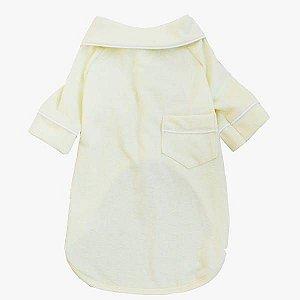 Pijama Camisa para Cachorro Amarelo
