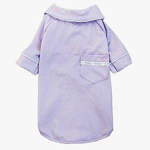 Pijama Camisa para Cachorro e Gato Lilás