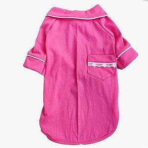 Pijama Camisa para Cachorro e Gato Pink